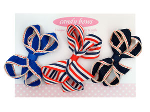 Nautical Stripes Holiday Set - hair accessories