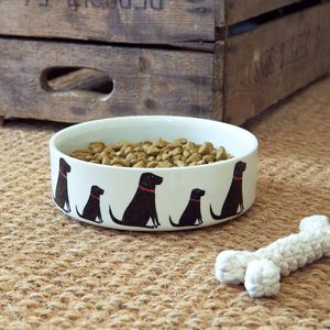 Black Labrador Dog Bowl - dogs