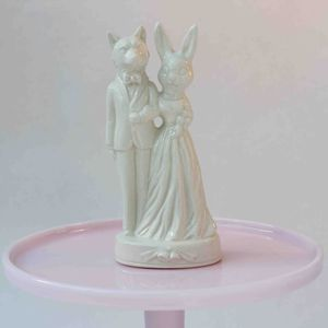 Mr Fox And Mrs Bunny Wedding Cake Topper - kitchen accessories