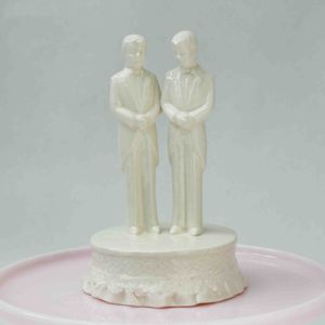 Gay Gentlemen Wedding Cake Topper