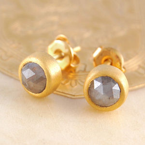 18ct Gold Rose Cut Diamond Studs