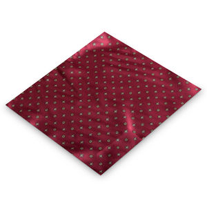 Red Aztec Pocket Square Hanky