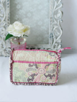 Overnight Washbag In Meadow Patchwork Print