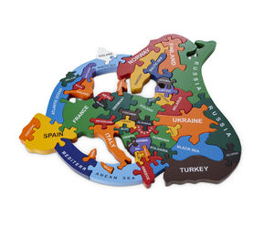 Handmade Wooden Map Of Europe Puzzle - educational toys