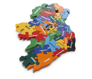 Handmade Wooden Map Of Ireland Puzzle