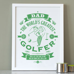 Personalised Dad's Golf Print