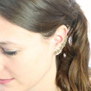 Single Gold Shooting Star Ear Cuff - earrings