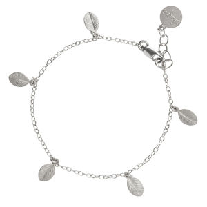 13 Leaves In The Forest Bracelet In Sterling Silver