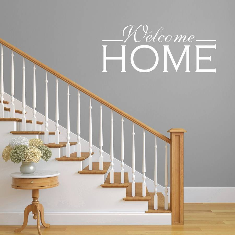 Welcome Home Hallway Wall Sticker By Mirrorin