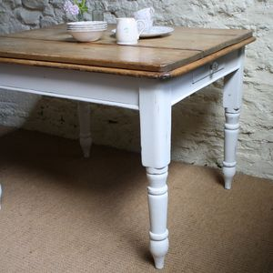 Victorian Pine Kitchen Table - dining tables