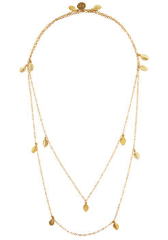14k Gold Fill Leaves Necklace
