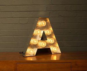 Light Up Marquee Bulb Letters A - table lamps