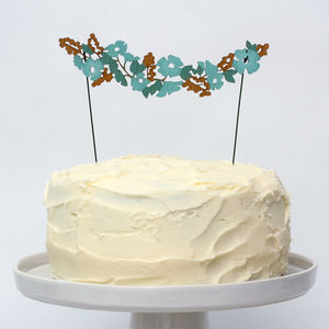 Wild Flower Wedding Cake Topper