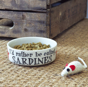 Sardines Cat Bowl - food, feeding & treats