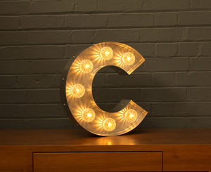 Light Up Marquee Bulb Letters C - wall lights