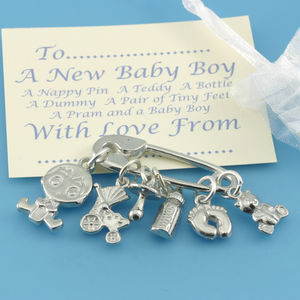 New Baby Boy Charms For Christening Gifts