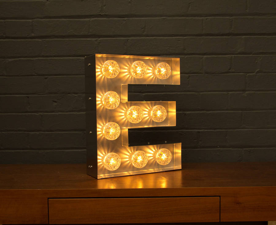 light up marquee bulb letters e