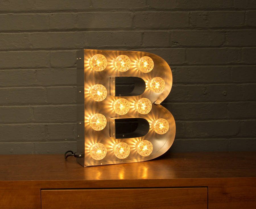 Light up marquee bulb letters b by goodwin goodwin for B marquee letter
