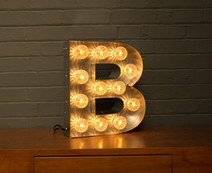 Light Up Marquee Bulb Letters B - lighting