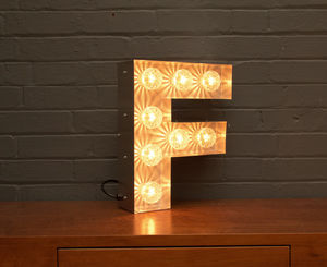 Light Up Marquee Bulb Letters F - table lamps