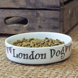 'London Dog' Bowl - food, feeding & treats