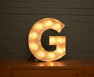 Light Up Marquee Bulb Letters G - wall lights