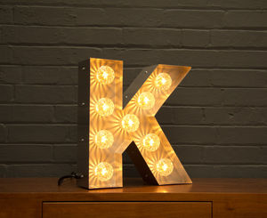 Light Up Marquee Bulb Letters K