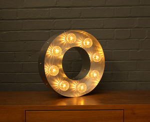 Light Up Marquee Bulb Letters O - lighting