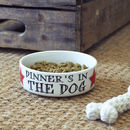 'Dinner's In The Dog' Pet Bowl