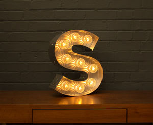 Light Up Marquee Bulb Letters S - children's room accessories