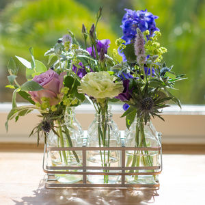 Amethyst Vintage Style Fresh Flowers Bottles - gifts for her