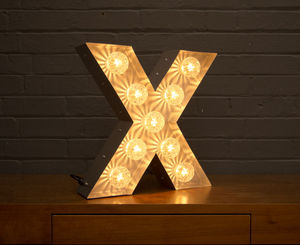 Light Up Marquee Bulb Letters X - dining room