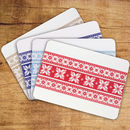 Set Of Four Fair Isle Tablemats