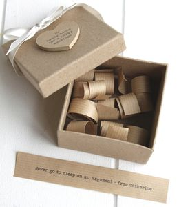 Personalised '10 Hints For A Happy Marriage' Box - best wedding gifts