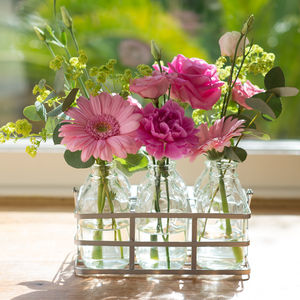 Tickled Pink Vintage Style Fresh Flowers Bottles - shop by category