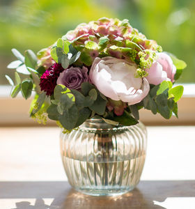 Scented Cottage Garden Posy With Vintage Style Vase