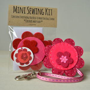 Mini Flower Bag Charm Sewing Kit - bag charms