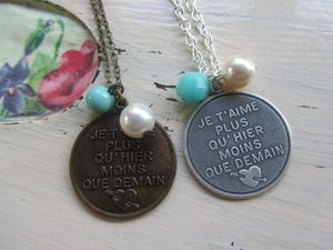 I Love You More Than Yesterday Necklace - necklaces & pendants