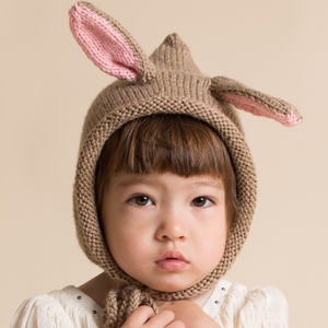 Hand Knitted Bunny Hats - 1st birthday gifts