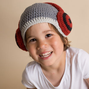 Hand Crochet Headphone Hat - baby & child sale