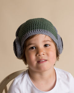 Hand Crochet Headphone Hat - cosy clothing