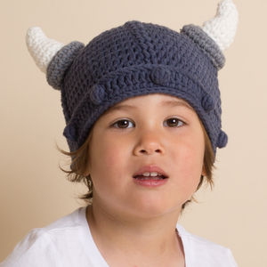 Hand Crochet Viking Helmet - baby & child sale