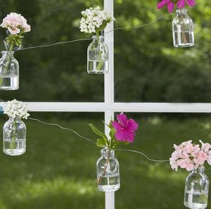 Personalised Mini Glass Bottle Garland - bunting & garlands