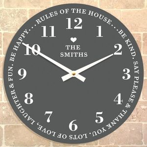 Personalised Family Time Clock - clocks