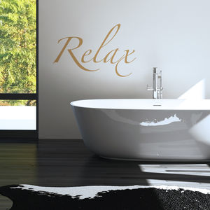 Bathroom Relax Wall Sticker - wall stickers