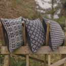 Cable Knitted Cushion