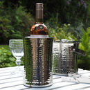 Hammered Concave Wine Cooler