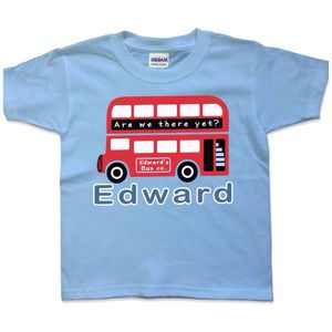 Personalised Childs London Bus T Shirt - clothing