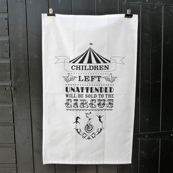 'Circus' Tea Towel