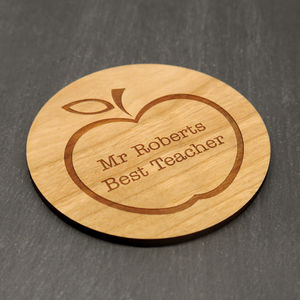 Wooden Personalised Best Teacher Coaster - gifts for teachers
